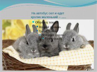 На автобус сел и едет кролик маленький –…..