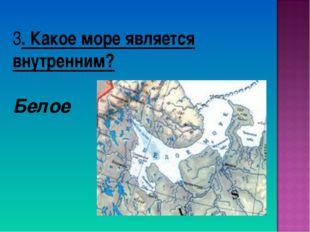 3. Какое море является внутренним? Белое