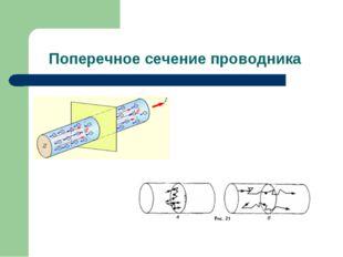 Поперечное сечение проводника