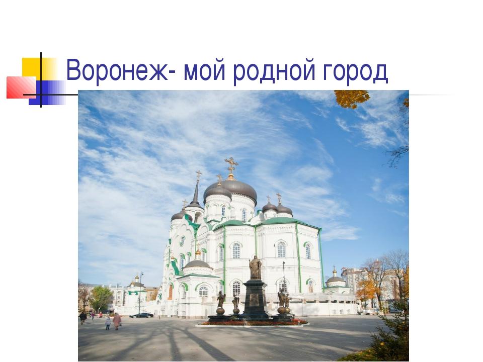 Воронеж- мой родной город