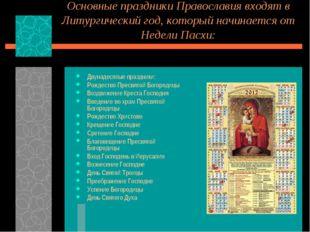 Основные праздники Православия входят в Литургический год, который начинается