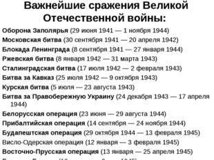 Важнейшие сражения Великой Отечественной войны: Оборона Заполярья (29 июня 1