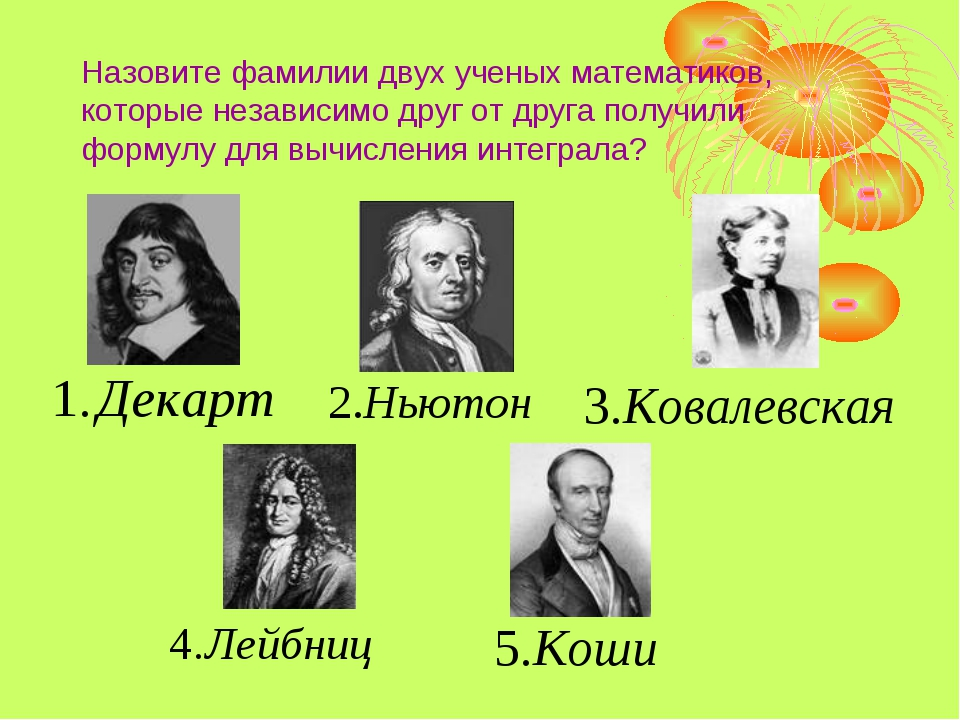 Назовите фамилии двух ученых математиков, которые независимо друг от друга по...