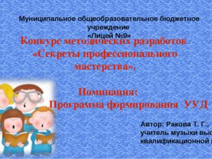 Конкурс методических разработок «Секреты профессионального мастерства». Номин