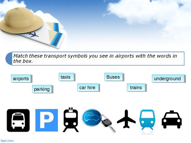 Buses car hire parking taxis trains underground airports