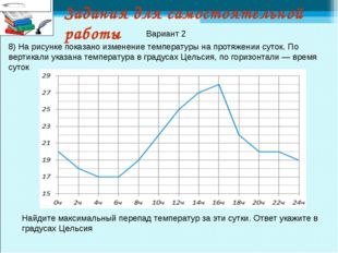 Задания для самостоятельной работы 8) На рисунке показано изменение температу