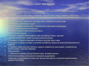Цели викторины: Внедрение национально-регионального компонента посредством со