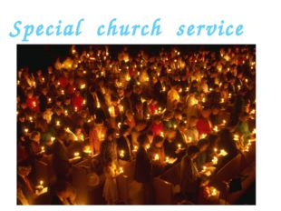 Special church service