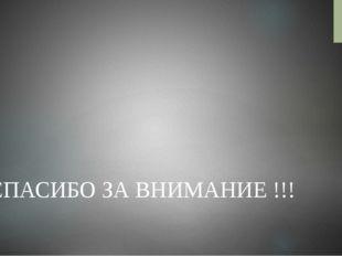 CПАСИБО ЗА ВНИМАНИЕ !!!