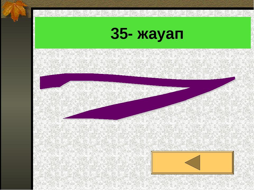 35- жауап