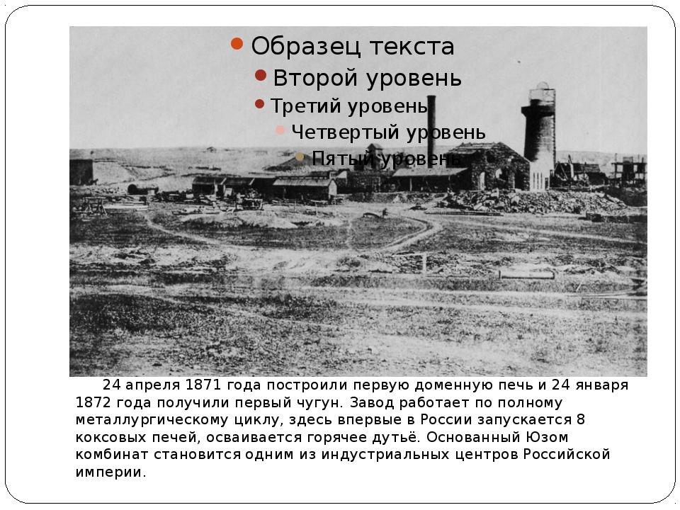 24 апреля 1871 годапостроили первуюдоменную печьи24 января 1872 годапол...