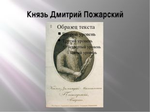 Князь Дмитрий Пожарский