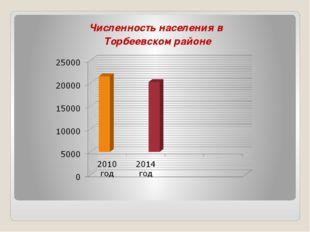 Численность населения в Торбеевском районе