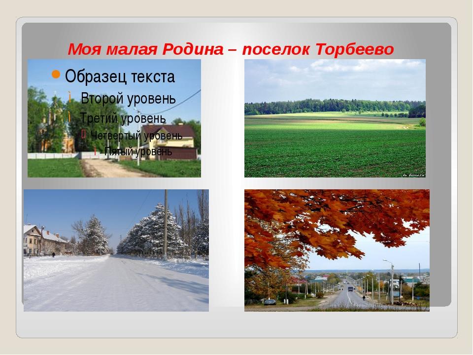 Моя малая Родина – поселок Торбеево