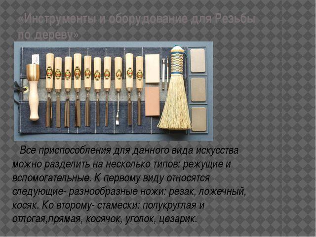«Инструменты и оборудование для Резьбы по дереву» Все приспособления для данн...