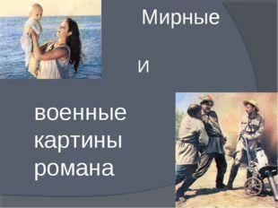 Мирные И военные картины романа