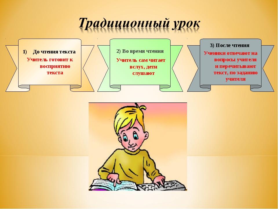 3) После чтения Ученики отвечают на вопросы учителя и перечитывают текст, по...