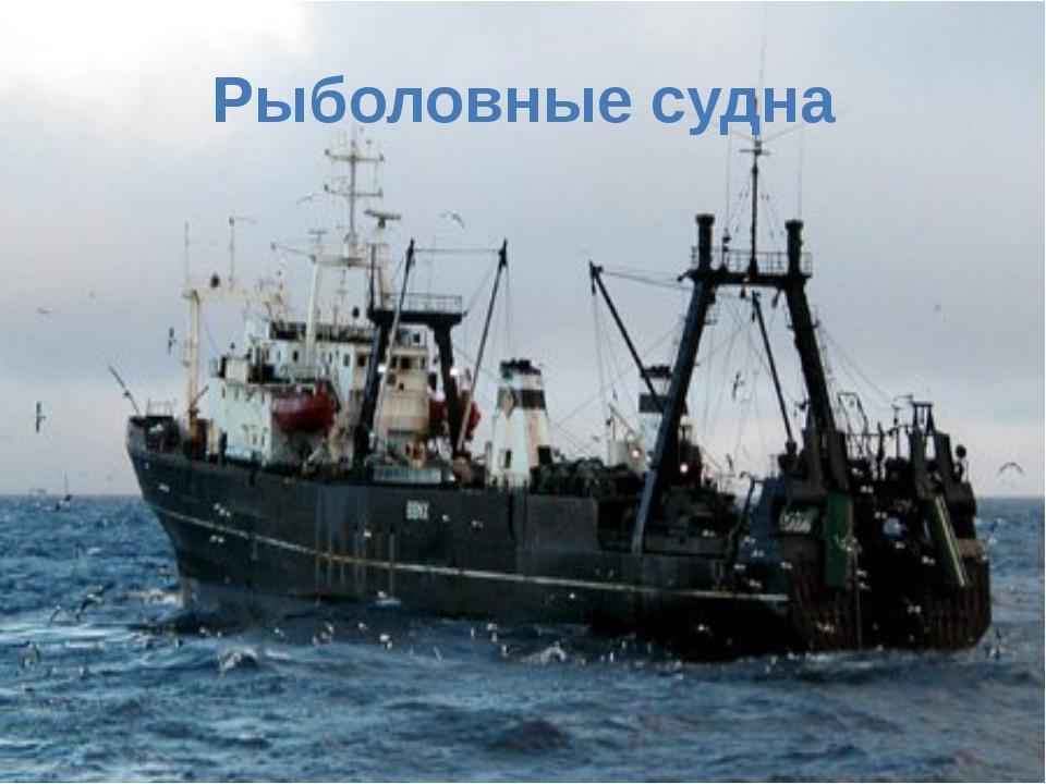 Рыболовные судна