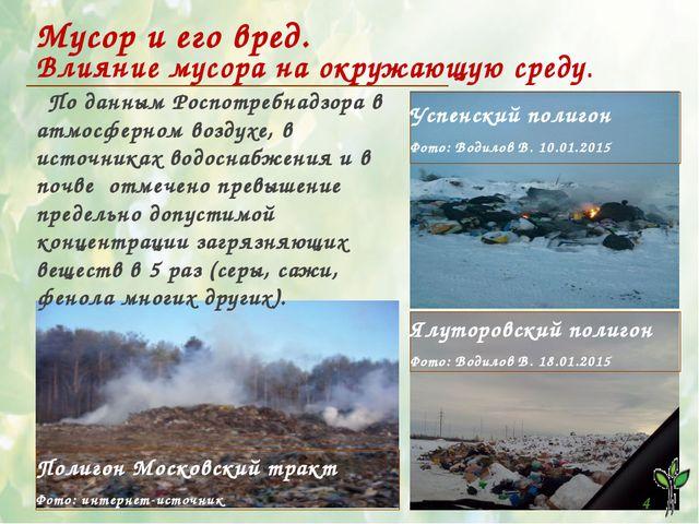 1 Мусор и его вред. Влияние мусора на окружающую среду. Успенский полигон Фот...