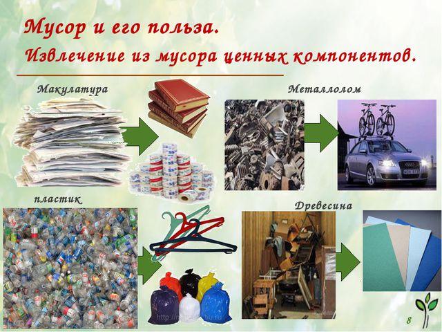 Мусор и его польза. Извлечение из мусора ценных компонентов. 8 Макулатура Ме...