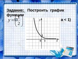 Задание: Построить график функции (0 < a < 1)