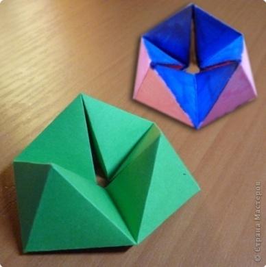 Игрушка Мастер-класс Бумагопластика Оригами Флексагон - игрушка трансформер за 5 минут МК Бумага фото 1