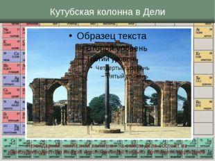 Кутубская колонна в Дели Легендарная «железная колонна» на самом деле состоит