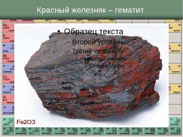 Красный железняк – гематит Fe2O3