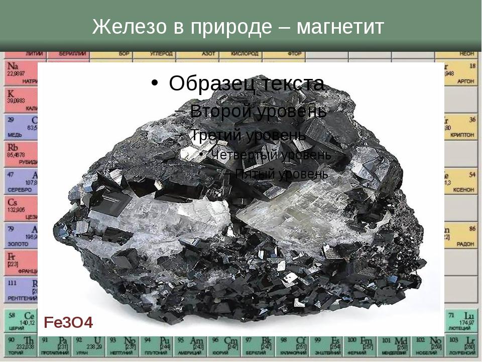Железо в природе – магнетит Fe3O4
