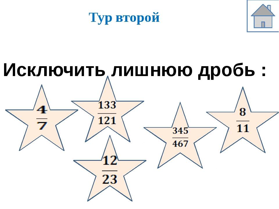 Третий тур Расположи дроби в порядке возрастания: Вычисли: № 1 № 2 № 3 № 4 нр...
