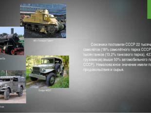 Союзники поставили СССР 22 тысячи самолётов (18% самолётного парка СССР),