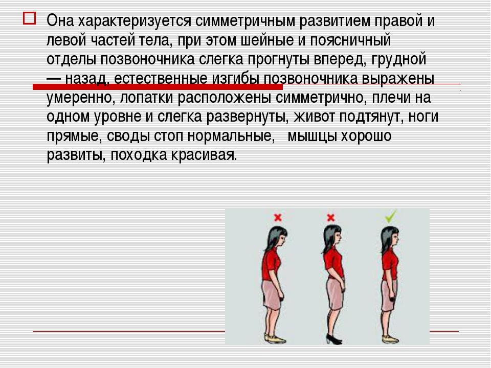 Она характеризуется симметричным развитием правой и левой частей тела, при эт...