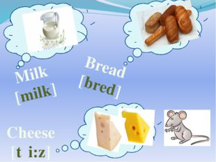 Milk [milk] Bread [bred] Cheese [tʃi:z]