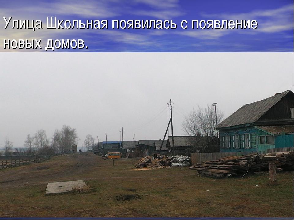 Улица Школьная появилась с появление новых домов.