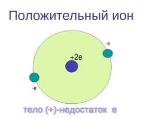 Положительный ион -е +2е -е