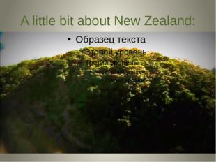 A little bit about New Zealand: