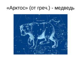 «Арктос» (от греч.) - медведь