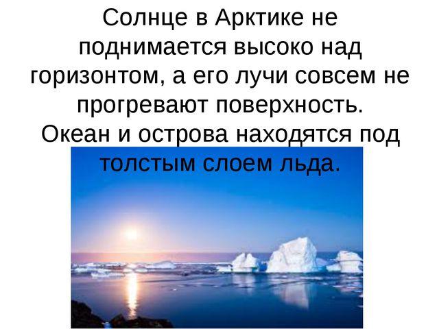 Солнце в Арктике не поднимается высоко над горизонтом, а его лучи совсем не п...
