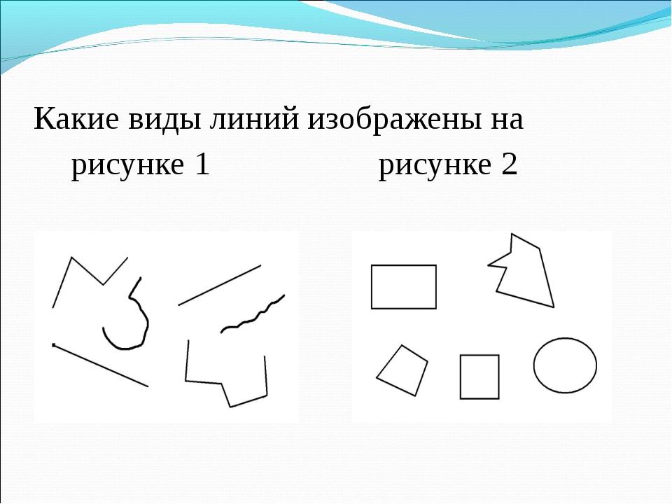 Какие виды линий изображены на рисунке 1 рисунке 2