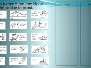 useful not useful Pick the pictures where more friction would be useful or n