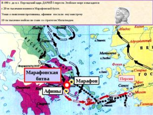 Марафон Афины Марафонская битва Персия В 490 г. до н.э. Персидский царь ДАРИ