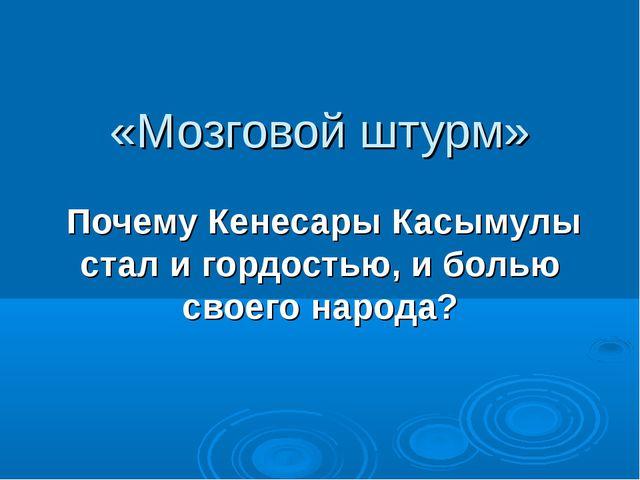 «Мозговой штурм» Почему Кенесары Касымулы стал и гордостью, и болью своего на...