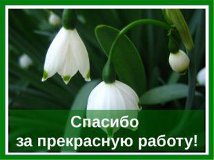 Спасибо за прекрасную работу! Цветы – фоновое изображение. После завершения