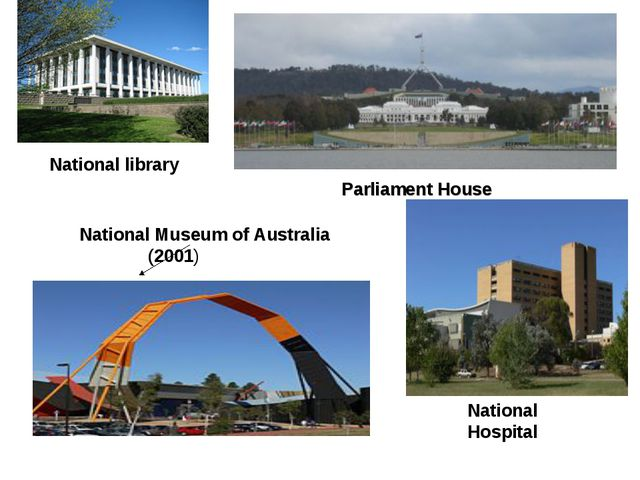 National library National Hospital Parliament House National Museum of Austra...