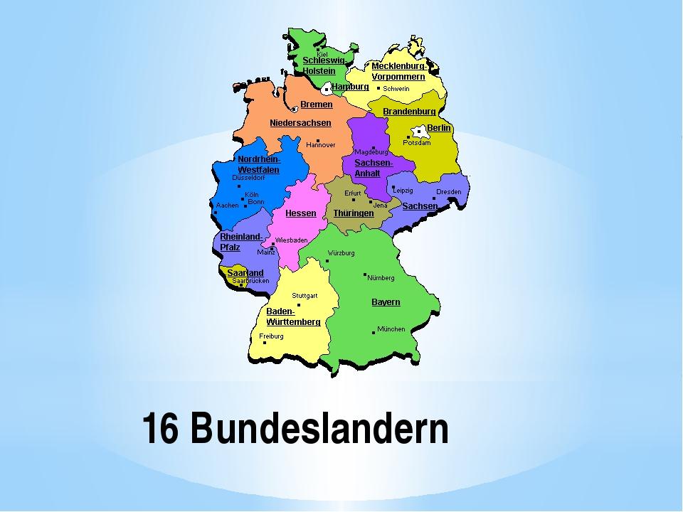 16 Bundeslandern