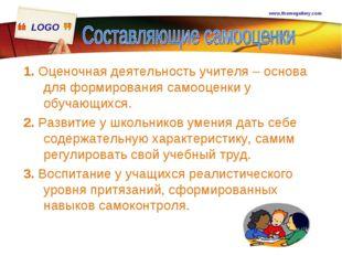 www.themegallery.com 1. Оценочная деятельность учителя – основа для формирова