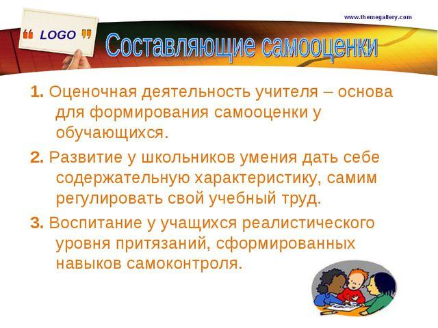 www.themegallery.com 1. Оценочная деятельность учителя – основа для формирова...
