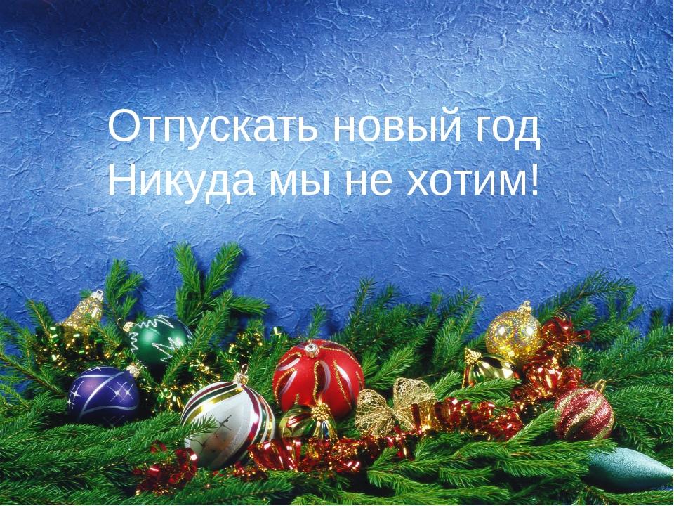 Отпускать новый год Никуда мы не хотим!