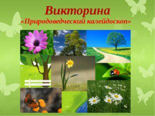 Викторина «Природоведческий калейдоскоп»