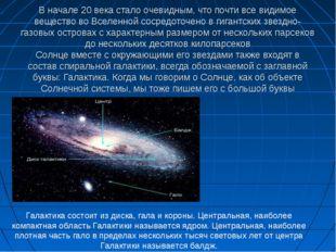 В начале 20 века стало очевидным, что почти все видимое вещество во Вселенной